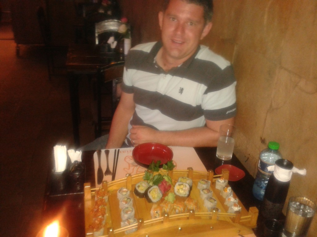09-celebrating 33 years of life with Sushi and a move. Ruth is the hero of the day for babysitting!