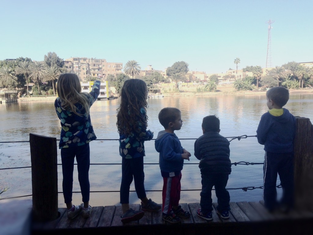 This crew of friends. And a morning playing together by the Nile
