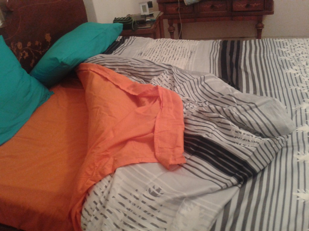 11-sheets and a blanket for our bed (soo much more comfortable!)