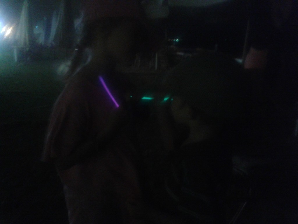 12-Glow stick dance parties on the beach