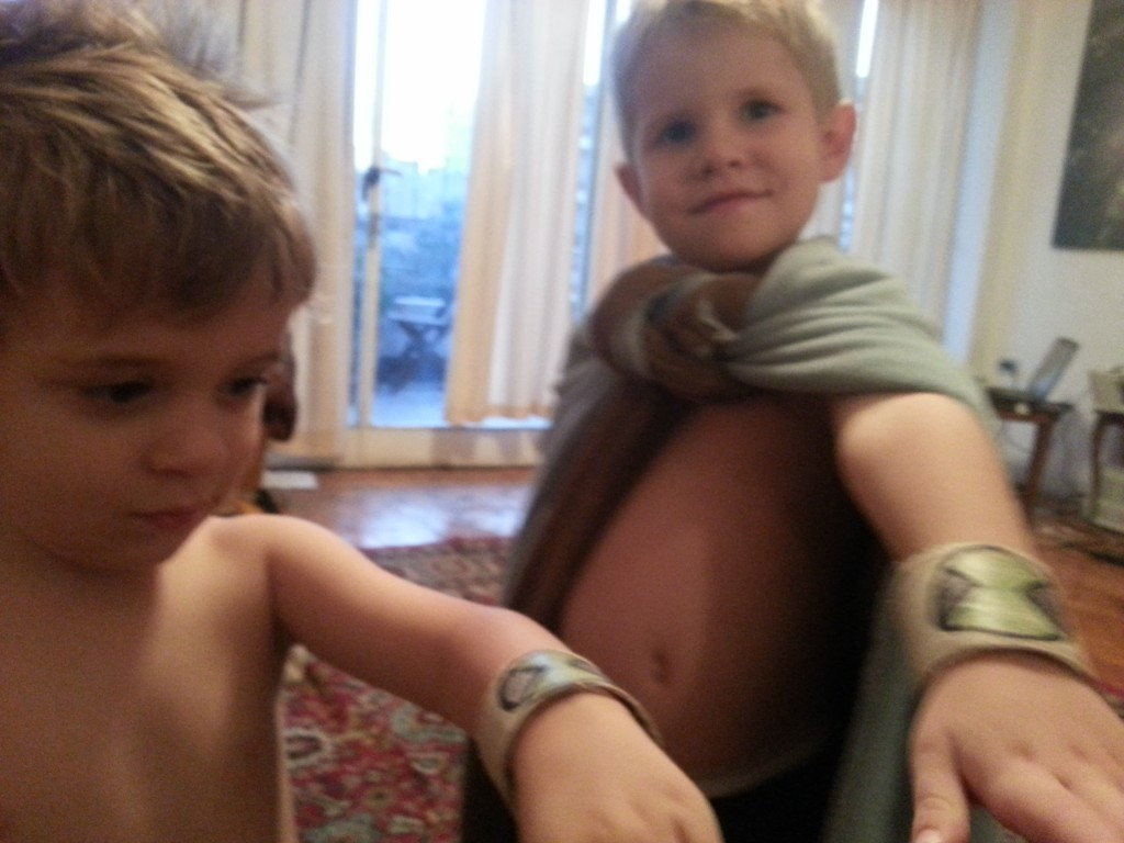 30-The boys and their ben ten watches...