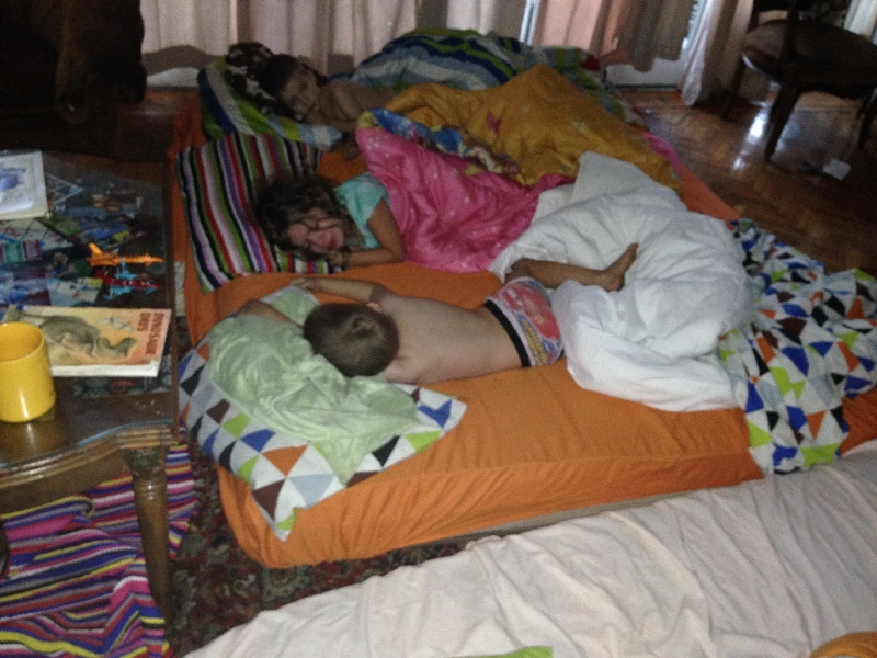 05-a sleepover in the living room