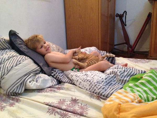 07.08-W--- loves his kitten