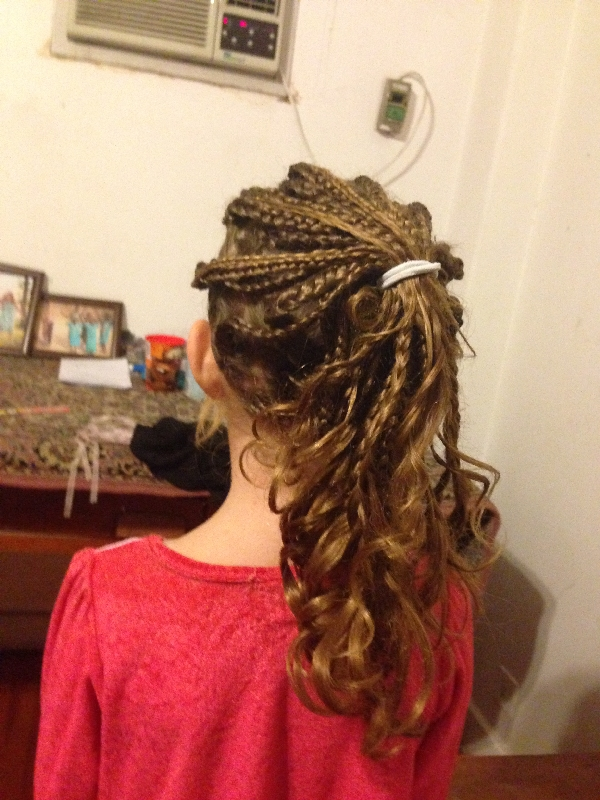 23- not combing Flower-girls hair for a week