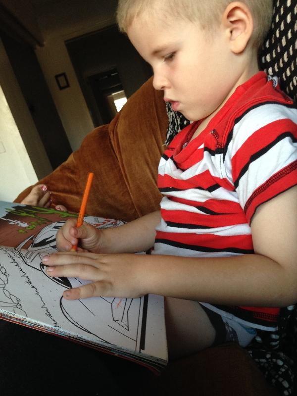 31-W-man enjoying drawing
