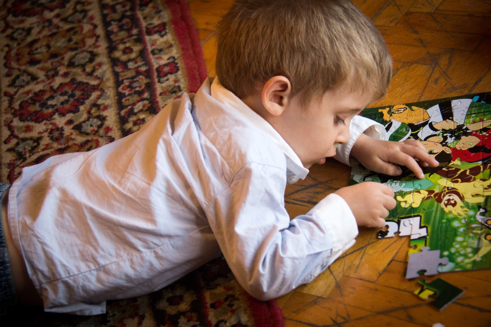 D-man showed us his puzzle skills