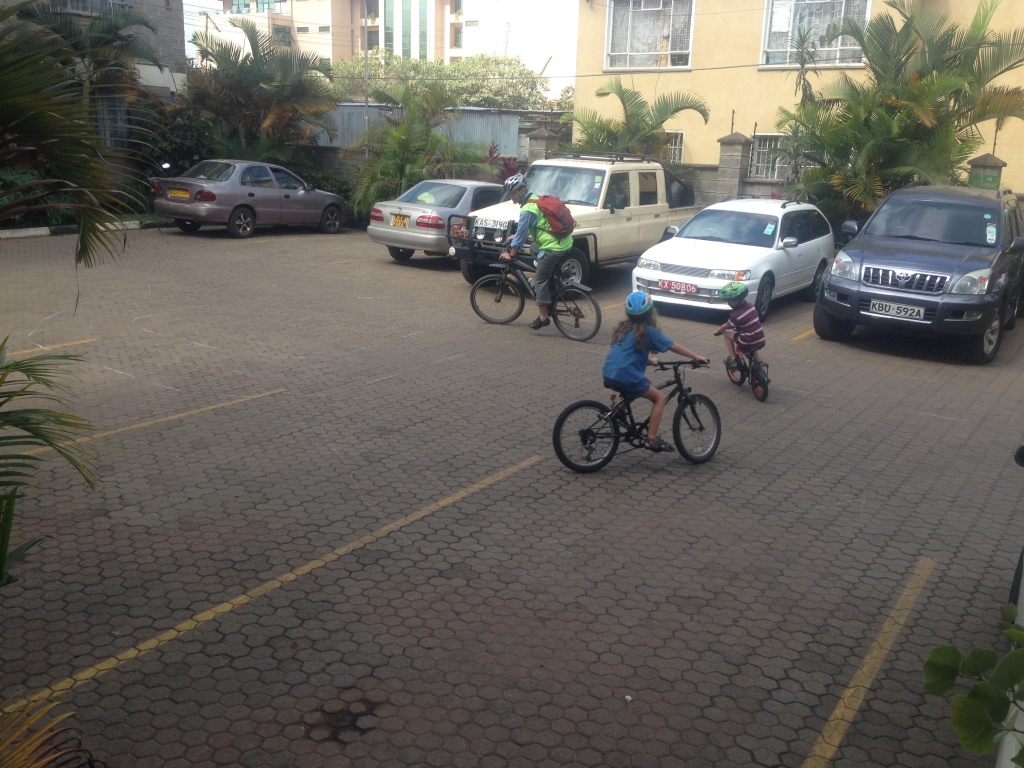 02.20-our director/friend came over and after our work took five minutes to ride with the kids...they loved it!