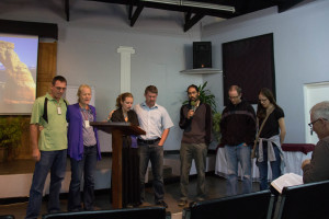 Singing prayers of surrender to God surrounding our future plans in Melut.