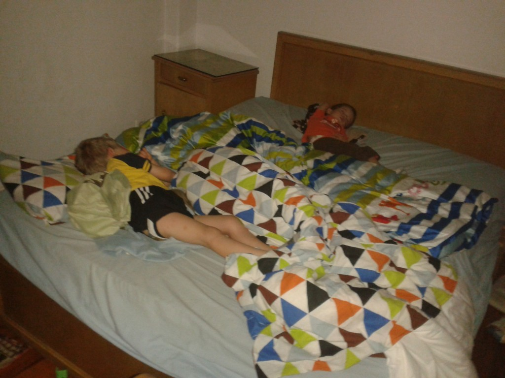 2:50p-sleeping boys. It is nap time an easy feat after the heat of the day!
