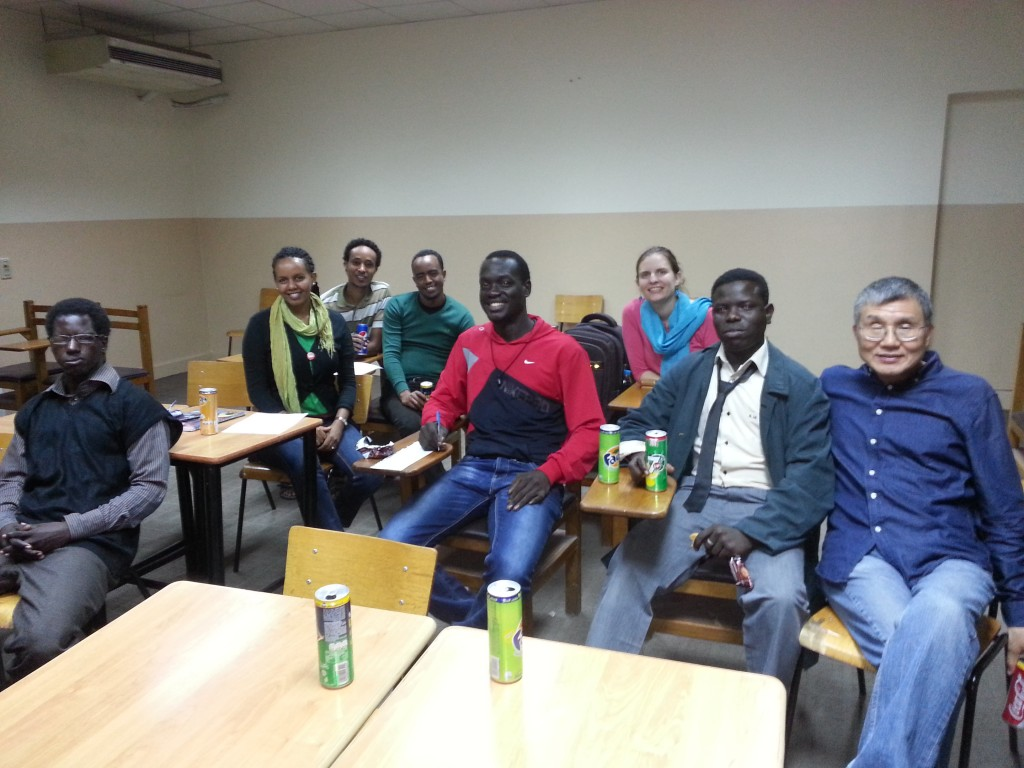 The small business seminary for refugee youth. Daniel didn't mind sharing his special day - especially when everyone sang to him.