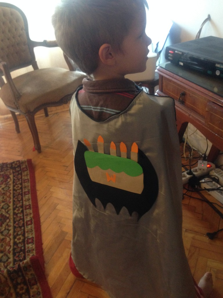 He wore a super-hero cape to school so everyone would know it was his birthday