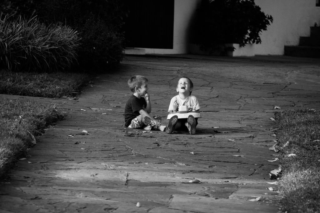 01.24- These boys were laughing and joking with each other...brothers