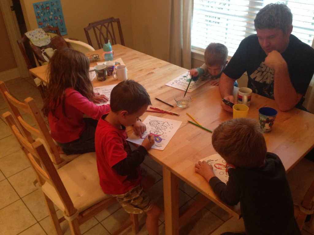 03.19-Coloring time with the cousins...